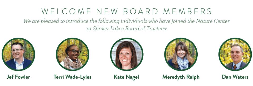 Shaker Lakes board members